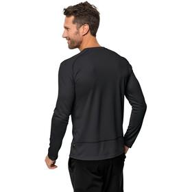 Jack Wolfskin Sky Range Langærmet T-shirt Herrer, black